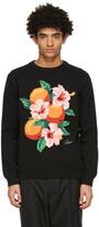 Thumbnail for your product : Casablanca Black Intarsia Knit Kapalia Oranges Sweater