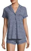 Kate Spade Mini Hearts-Print Short Pajama Set