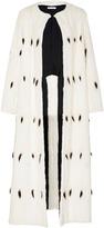 Oscar de la Renta Maxi Length Fur Coat