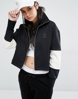 Reebok Classics Logo High Neck Track Jacket In Black