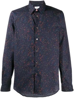 Paul Smith Abstract Print Long-Sleeve Shirt
