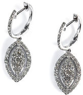 Marquis Effy 14K White Gold and Diamond Drop Earrings