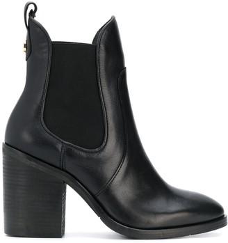 Tommy Hilfiger block heel Chelsea boots