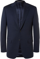 Canali - Navy Valencia Slim-fit Stretch-wool Travel Suit Jacket