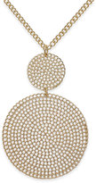 Thalia Sodi Gold-Tone Etched Disks Pendant Necklace, Only at Macy's