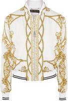 Versace Printed Silk-twill Bomber Jacket - IT44