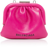Balenciaga Cloud Grained-Leather Coin Purse