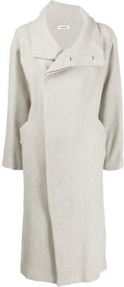 Plantation loose-fit midi coat