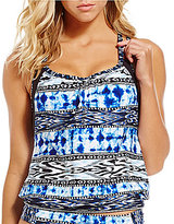 Kenneth Cole Reaction Indigo-Go-Girl Double-Up Layered Tankini
