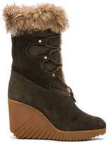 Chloé Suede Foster Wedge Boots