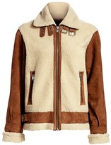 LAMARQUE Faux Shearling Aviator Jacket