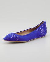 Ella Moss Savan Pointed-Toe Flat, Bright Cobalt