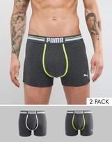Puma 2 Pack Colour Contrast Boxers