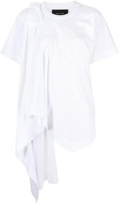 Simone Rocha bow detail draped T-shirt