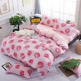 Auvoau Pineapple Bedding Sets Children's cartoon Duvet Cover Set Children's bedding Girl Bedding Set 4PC (Full