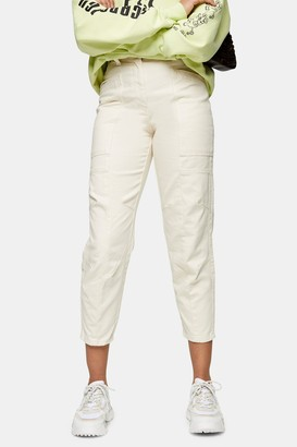 Topshop Stone Seamed Casual Peg Pants
