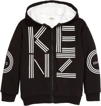 Kenzo Fleece Lined Zip Hoodie