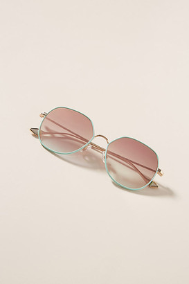 SUNDAY SOMEWHERE Sedgwick Round Sunglasses By in Blue Size ALL