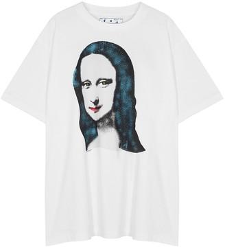 Off-White Mona Lisa white printed cotton T-shirt
