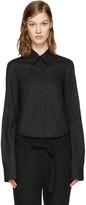 Ann Demeulemeester Black Poplin Cropped Shirt