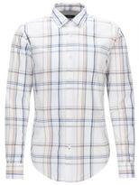 HUGO BOSS Plaid Cotton Button Down Shirt, Slim Fit Ronni M White