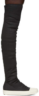 Rick Owens Black Stocking Sneakers
