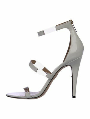 Tamara Mellon Patent Leather Sandals White