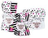 Trend Lab Unknown Zahara Zebra Dot 10-Piece Hooded Towel, Wash Cloth and Burp Cloth Set - Black and White
