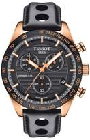 Tissot PRS 516 Chronograph Leather Strap Watch, 42mm