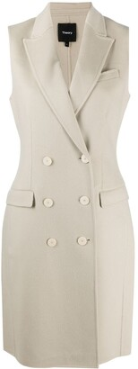 Theory Double Breasted Midi Vest