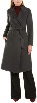 Theory Wrap Trench Df Tokyo Wool Coat