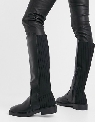 ASOS DESIGN Carson chunky flat knee boots