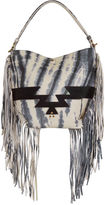Jerome Dreyfuss Tie Dye Mario Fringed Hobo Bag