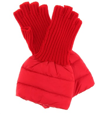 Moncler Quilted wool-trim gloves