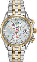 Citizen 39mm World Time Two-Tone Chronograph Bracelet Watch