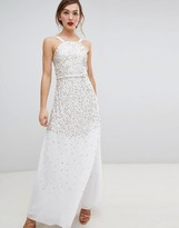 Frock and Frill Scatter Sequin Maxi Dress