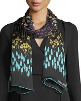 Valentino Flower Rows Silk Shawl