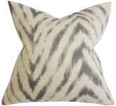 One Kings Lane Animal 18x18 Cotton Pillow, Brown