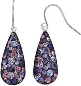 Confetti Purple Crystal Teardrop Earrings