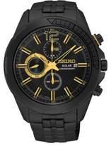 Seiko Recraft Series Black Stainless Steel Watch