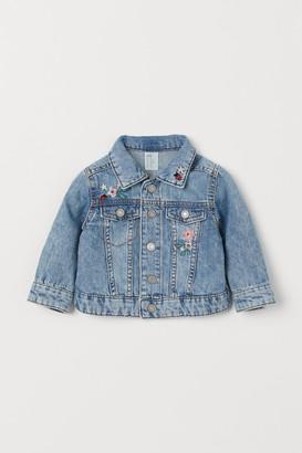 H&M Embroidered Denim Jacket