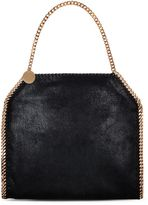 Stella McCartney black falabella shaggy deer small tote