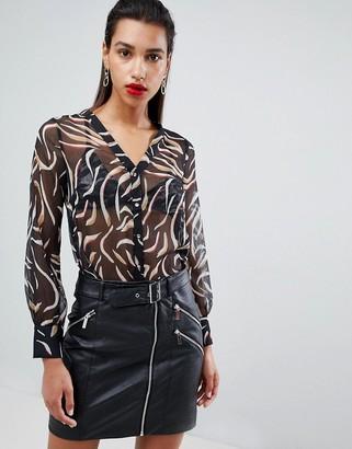 Morgan printed blouse