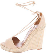 Aquazzura Suede Wedge Sandals