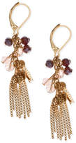 lonna & lilly Gold-Tone Bead & Fringe Drop Earrings