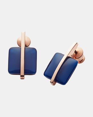 Skagen Sea Glass Rose Gold-Tone Earrings