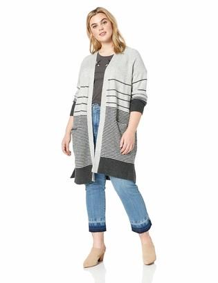 Lucky Brand Women's Plus Size Stripe Duster Cardigan Sweater