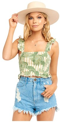Show Me Your Mumu Delia Crop Top (Bamboo Palm) Women's Clothing