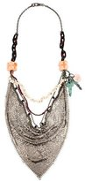 Proenza Schouler Bead, Shell & Dyed Howlite Multistrand Handkerchief Necklace