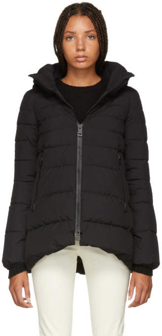 Herno Black A-Line Puffer Jacket